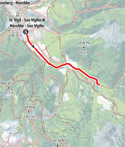 Map / Winter walk: San Vigilio - Lé dla Creda