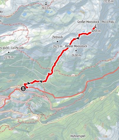 Kaart / Großen Moosstock 3060 m