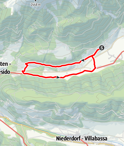 Map / A walk from farm to farm in Colle/Val Casies