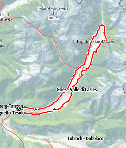 "Map / Hike on the ""Talblickweg"" in Val Casies Valley"