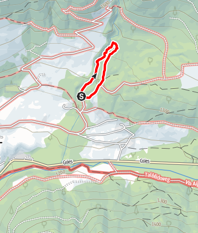 Mapa / Barfußwanderweg Rudlbach