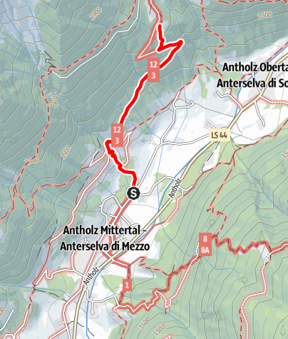 Karte / Wanderung zur Bergeralm