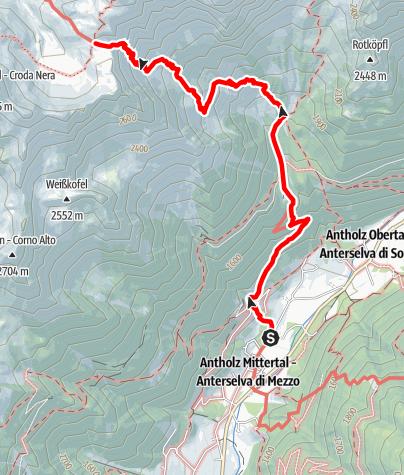 Mapa / Wanderung zur Rieserfernerhütte