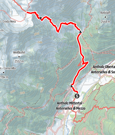 Map / Hiking to the Rieserfernerhütte hut