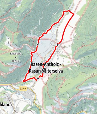 Map / Long round through Rasen