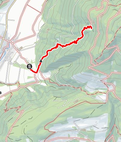 Map / Hiking to the Hochrautalm hut