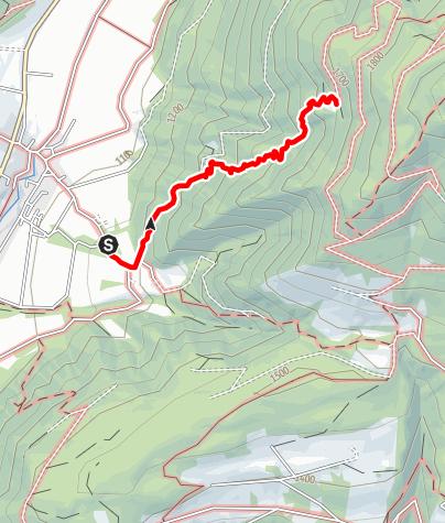 Mapa / Wanderung zur Hochrautalm