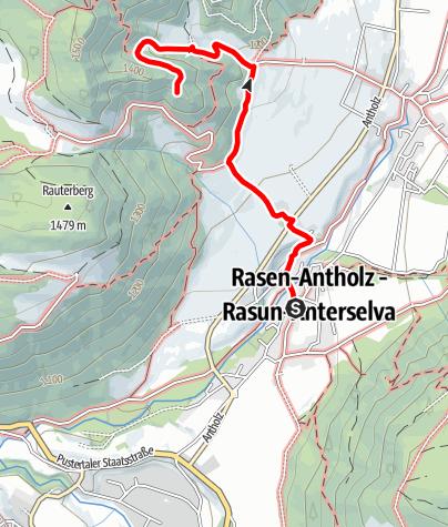 Karte / Wanderung zur Schlossruine Neurasen