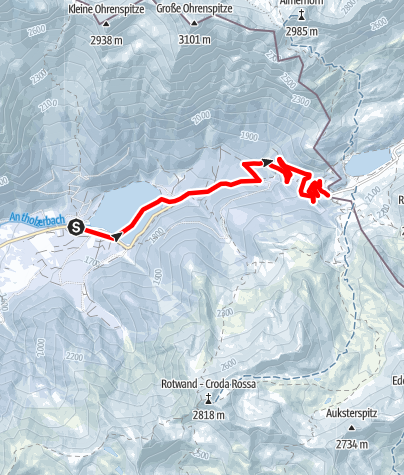 Karte / Schneeschuhwanderung: Staller Sattel