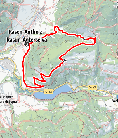 Map / Dolomites panoramic view tour