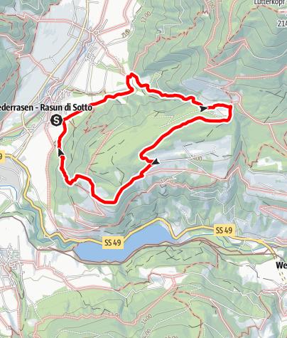 Mappa / Escursione con vista panoramica sulle Dolomiti