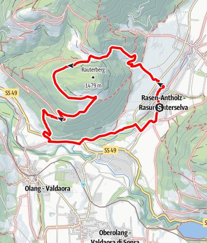 Cartina / Sentiero panoramico a Rasun di Sotto