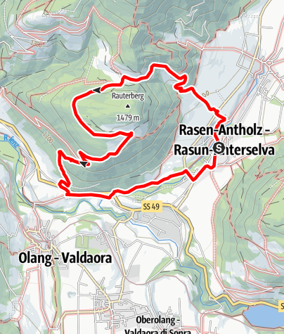 Kaart / Panoramaweg in Niederrasen