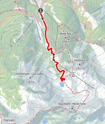 Karte / Wanderung zum Klaussee