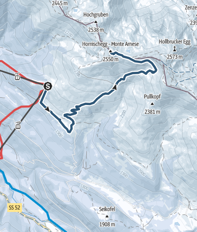 Cartina / Escursione scialpinistica - Monte Arnese