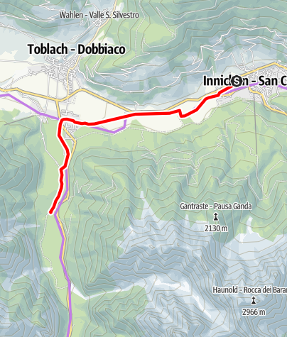 Map / Cycle Path: Innichen/San Candido - Lake of Toblach/Dobbiaco