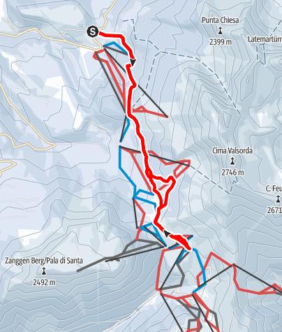 Carte / Winterwanderung von Obereggen zu den Eggentaler Almen