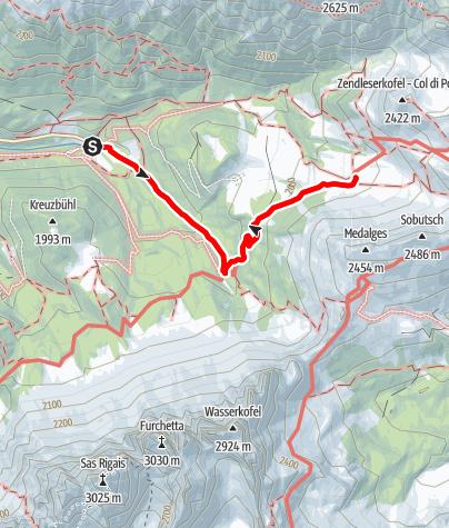 Mapa / Von Zans zur Gampenalm