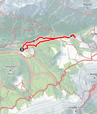 Map / Zannes-Kirchwiesl-Kaserillalm