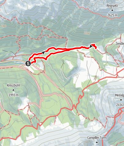 Mapa / Zans-Kirchwiesl-Kaserillalm