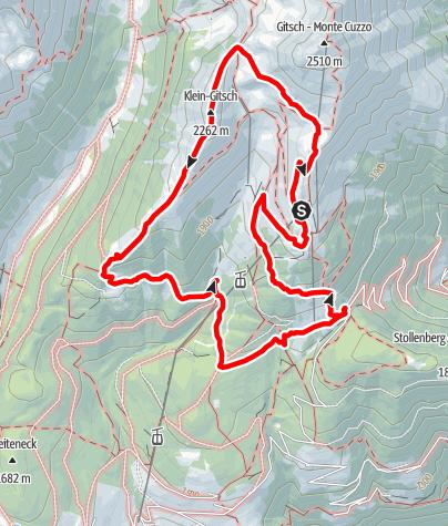 Kaart / Almhüttenrundweg Meransen