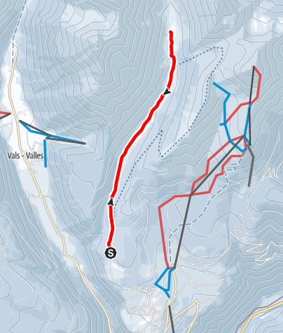 Mapa / Winterwanderung in das Altfasstal bei Meransen