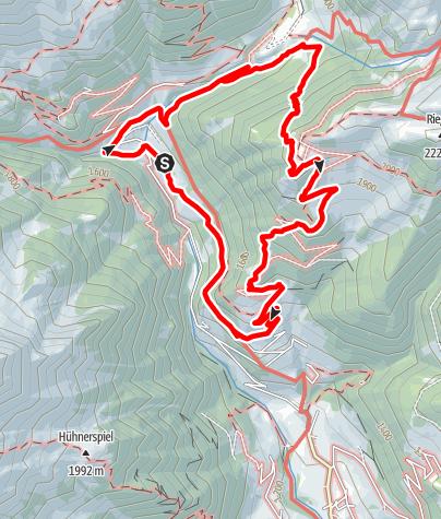 Mapa / Almhüttenrundweg im Pfunderertal bei Vintl
