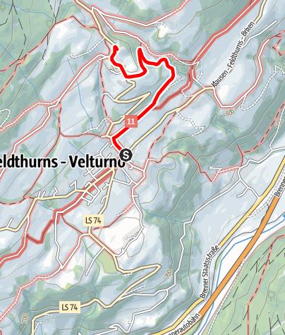 Kaart / Sonntagsweg - Besinnungsweg