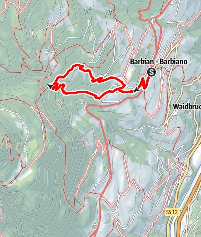 Kaart / Barbianer Wasserfälle