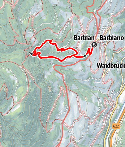 Map / Waterfall of Barbian/Barbiano