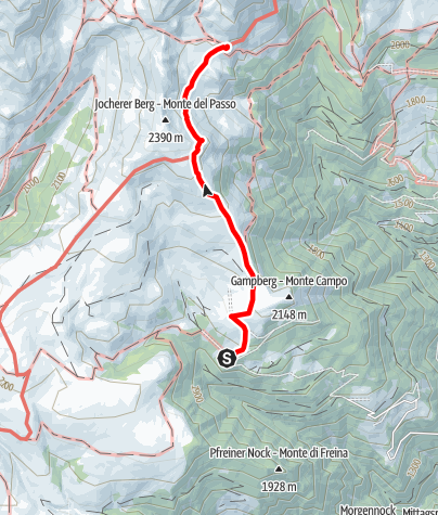 Карта / Kaseregg-Latzfonser Kreuz