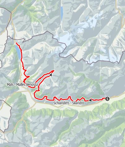Mapa / Vinschger Höhenweg