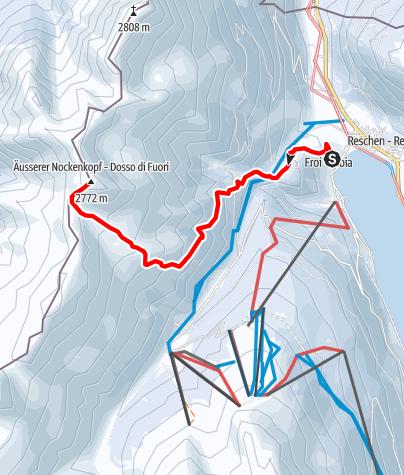 Map / Ski tour to the Dosso di Fuori