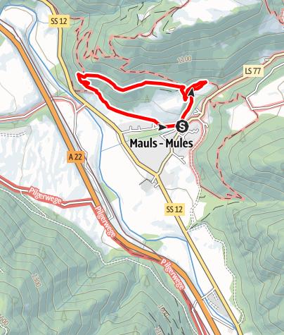 Mappa / Escursione circolare Leitenrundweg