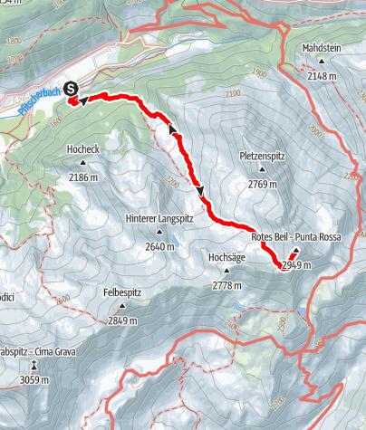 Karte / Rotes Beil