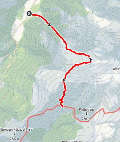 Mapa / Von Burgum zur Simile Mahd Alm