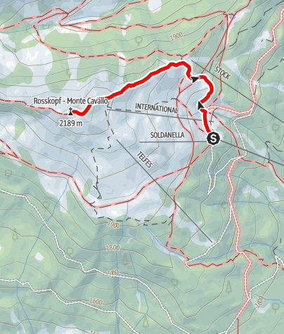 "Mapa / Gipfeltour Rosskopf ""Köpfl"""