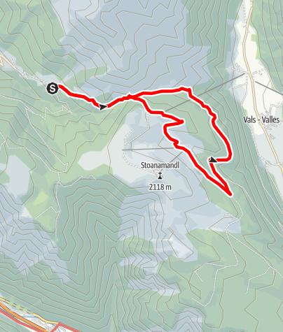 Cartina / Escursione circolare Rizzolo Jochtal