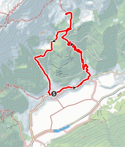 Map / Grubbergalm circular hiking trail