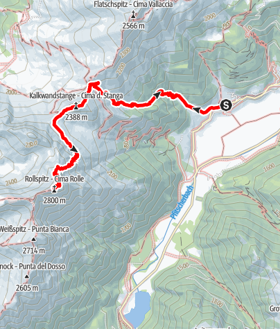 Map / To the Rollspitz summit
