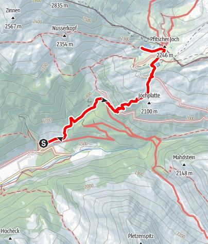Mapa / Von Stein zu den Pfitscherjoch Seen