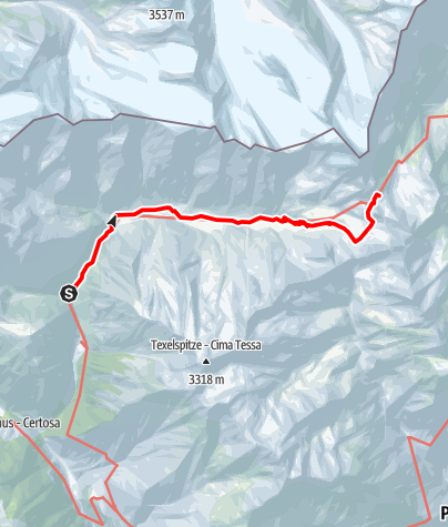Map / Mountainhut Vorderkas - Refuge Stettiner Hütte
