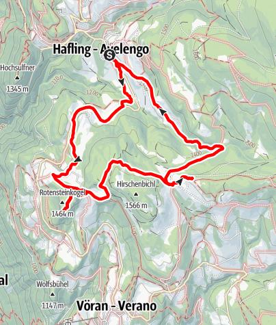 Cartina / Knottnkino - Escursione con partenza ad Avelengo paese