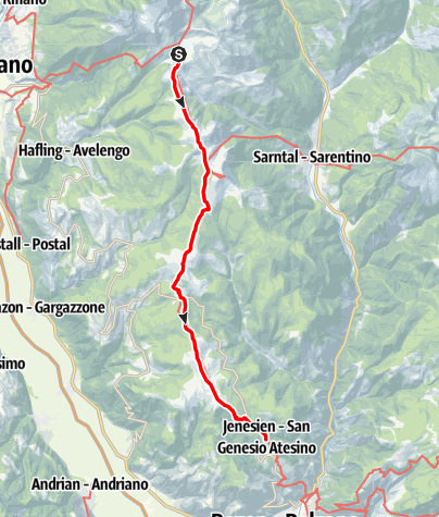 Map / European Long-Distance Trail E5, Merano 2000 to Jenesien
