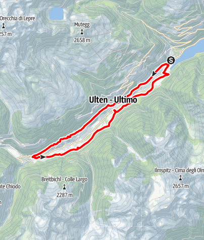 Map / Farm Trail in Ulten Valley