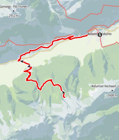 Mapa / Zirmtaler Seen bei Naturns
