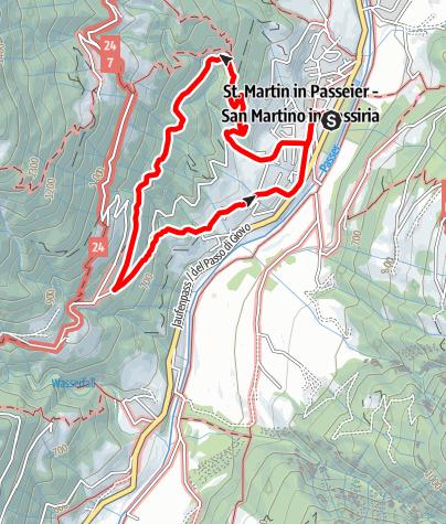 Carte / Teufelsteinweg in St. Martin