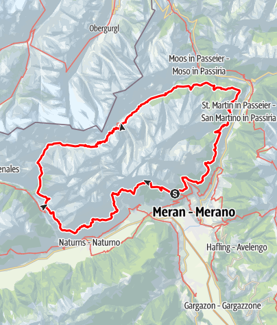 Cartina / Alta Via di Merano