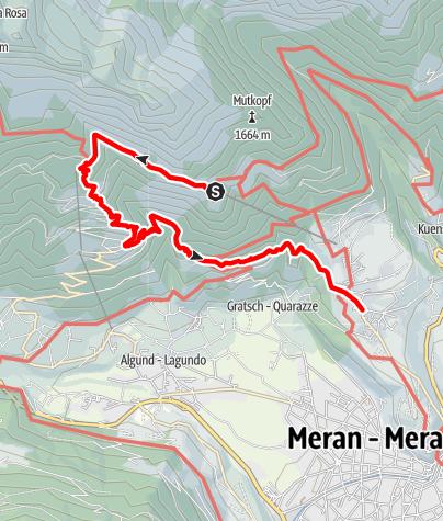 Mapa / Wanderung zur Leiteralm