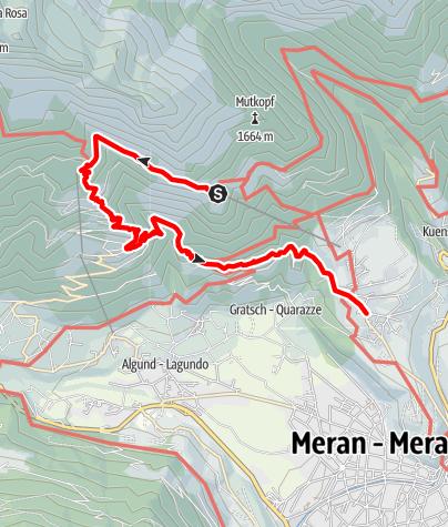 Karte / Wanderung zur Leiteralm